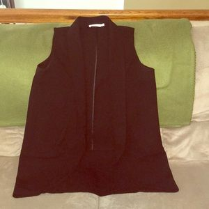 Long lapel vest